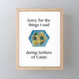 Catan, Settlers of Catan, Board Game, Geek Art, Nerd Art Framed Mini Art Print
