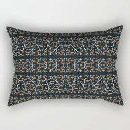 Floral Lace Stripes Print Pattern Rectangular Pillow