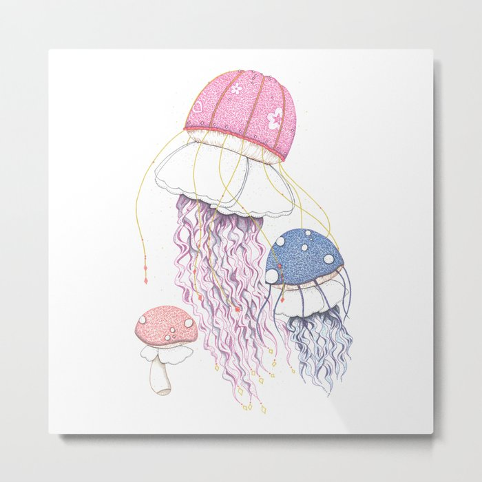 Jelly Shrooms Metal Print