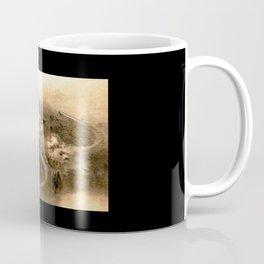 Dragon and wave,Tiger among bamboo by Kano Tannyu (1602-1674) Coffee Mug