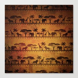 African Animal Pattern Canvas Print