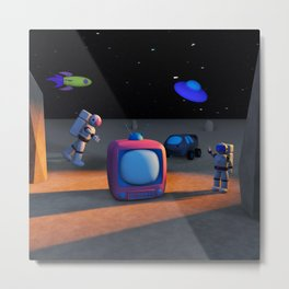 Space Channel Metal Print