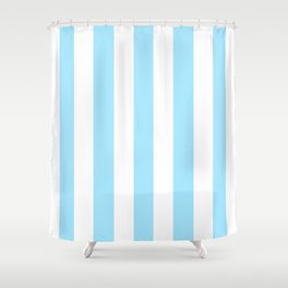 Fresh Air heavenly -  solid color - white vertical lines pattern Shower Curtain