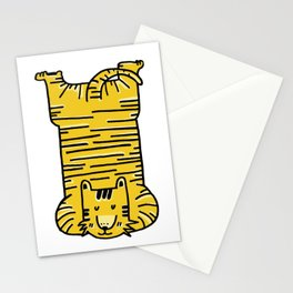 Tiger needs massage-gold Stationery Cards
