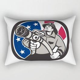 American Fireman USA Flag Icon Rectangular Pillow