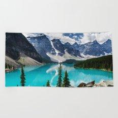 Lake Moraine Banff Beach Towel