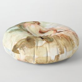 Watercolour Figure Floor Pillow