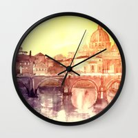 takmaj Wall Clocks featuring Rome by takmaj