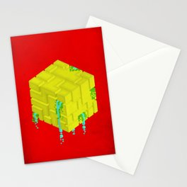 Cubic - Red Stationery Cards