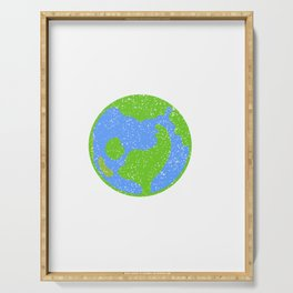 Great Animal Welfare Tee For Activitist Illustration Of Earth Surrounding Different Kind Of Animals Serving Tray
