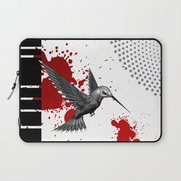 Trash Polka Flying Hummingbird Geometric Shapes Laptop Sleeve