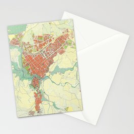 Ronda city map classic Stationery Cards