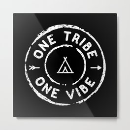 Tribe Vibe Reversed Metal Print