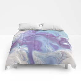 Purple, Blue, and White Abstract Comforters
