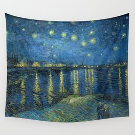 Van Gogh, Starry Night Over The Rhone Artwork Reproduction, Posters, Tshirts, Prints, Bags, Men, Wom Wall Tapestry