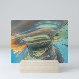 Sunrise Tornado: digital abstraction Mini Art Print