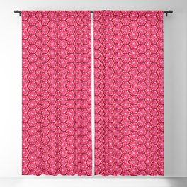 Hex Abstract Geometric Pattern ~ Chaos Red Blackout Curtain