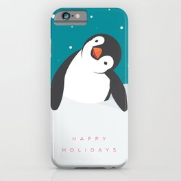 Holiday Penguin iPhone Case