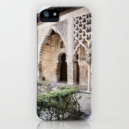 Patio Arches - Real Alcazar of Seville iPhone Case