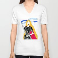 justice V-neck T-shirts featuring Justice by Alxndra Cook