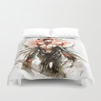 ghost Duvet Covers featuring GHOST by AkiMao
