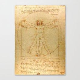Vitruvian Man, Da Vinci Canvas Print