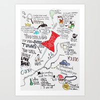 john green Art Prints featuring Paper towns, John Green by Natasha Ramon