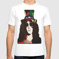 Rock Legend Slash Painting White MEDIUM Mens Fitted Tee