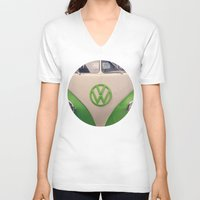 good vibes V-neck T-shirts featuring Good Vibes by Laura Ruth