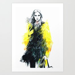 In yellow. Art Print
