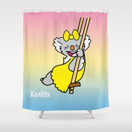 Koalita on the swing Shower Curtain