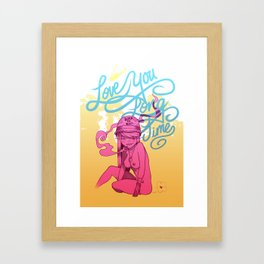 Love You Long Time Framed Art Print