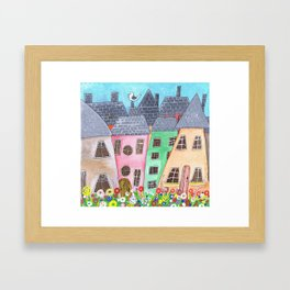 Seaside Bay Framed Art Print