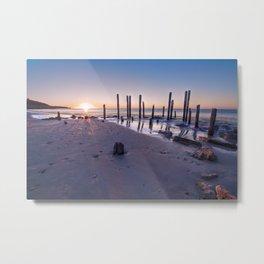 Port Willunga Sunset Metal Print