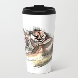 Totem: Asian small-clawed otter (c) 2017 Metal Travel Mug