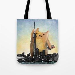 Level Cat Kaiju Tote Bag