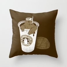 SlowSloth Coffee Dive Throw Pillow
