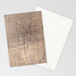 Vintage Map of Fayetteville North Carolina (1822) Stationery Cards