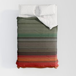 Bold Orange Green Stripes Comforters