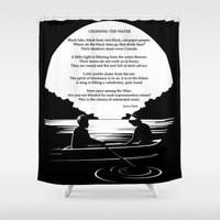 poem Shower Curtains featuring Crossing the Water (poem) by Sylvia Plath by People Matter Creative