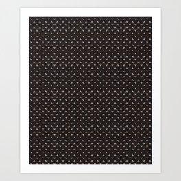 Chihuahua on Black Art Print