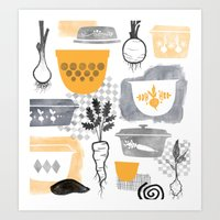 kitchen Art Prints featuring Kitchen by Jessica Phillips