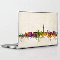 washington dc Laptop & iPad Skins featuring Washington DC Skyline Cityscpae by artPause