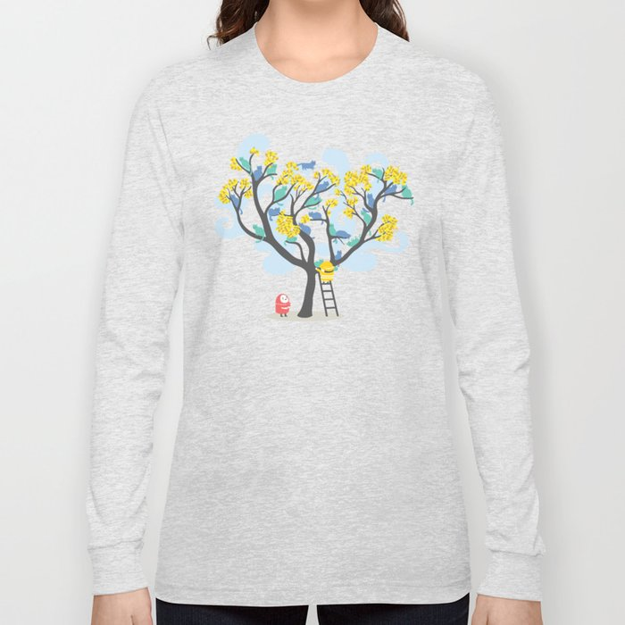 Crazy cat lady needs help Long Sleeve T-shirt