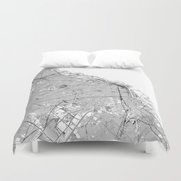Buenos Aires White Map Duvet Cover