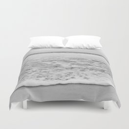 Wave in Black and White Duvet Cover