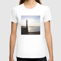edinburgh T-shirts featuring Leith Lighthouse Edinburgh by RMK Photography