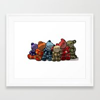 cuddle Framed Art Prints featuring Cuddle by Friederike Ablang