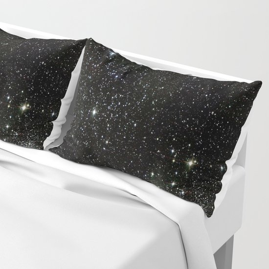 Universe Space Stars Planets Galaxy Black and White by rosemarya