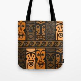 Sunset Orange Tikis! Tote Bag